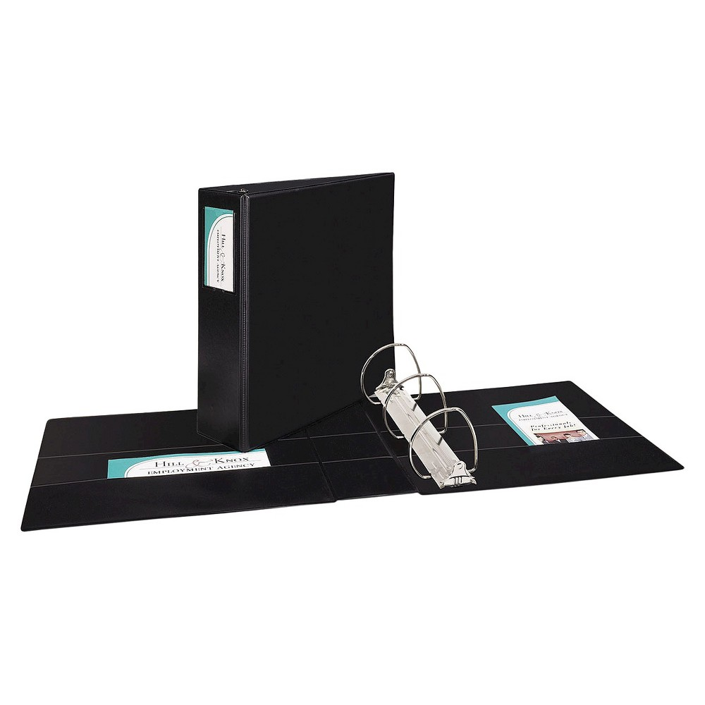 Avery Durable Ring Binder with Two Booster Ezd Rings, 11 x 8 1/2, 4, Black