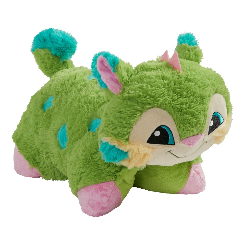 "Image of ""Animal Jam Lynx Pillow Pets (16""""), Green"""