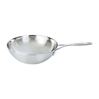 Demeyere Industry 5-Ply 5-qt Stainless Steel Flat Bottom Wok