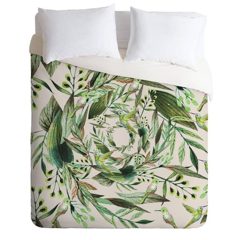 King Marta Barragan Camarasa Comforter & Sham Set Green - Deny Designs