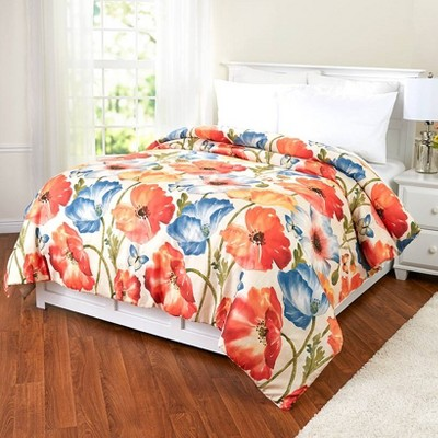 Lakeside Decorative Floral Watercolor Aesthetic Bedding Comforter
