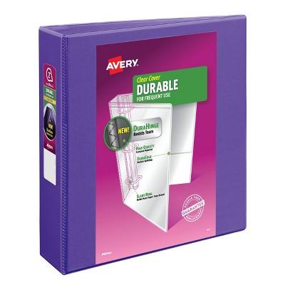 "Avery 500 Sheet 2"" Durable View Ring Binder Purple"