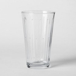 16oz 6pk Tall Pressed Glass Tumblers - Threshold™