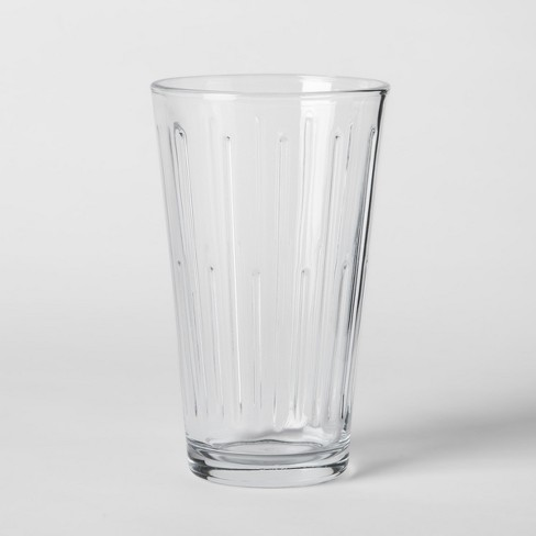 16oz 6pk Tall Pressed Glass Tumblers - Threshold™ - image 1 of 2