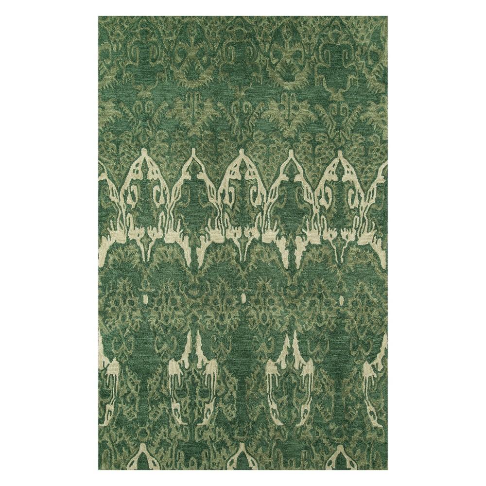 8'X10' Ikat Design Tufted Area Rug Green - Momeni