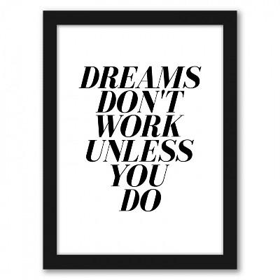 Americanflat Dreams by Nanamia Design Black Frame Wall Art