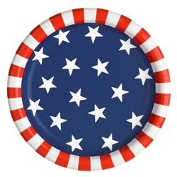 """20ct 6.75"""" Stars and Stripes Snack Plate - Sun Squad™"""