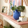 """9.5"""" x 9"""" Terracotta Vase with Handle Blue - Opalhouse™ designed with Jungalow™ - image 2 of 4"""