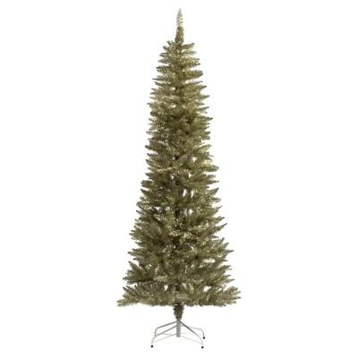 Vickerman Champagne Pencil Artificial Christmas Tree