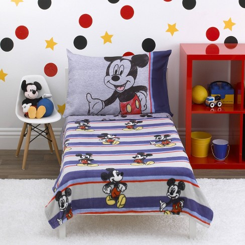 Mickey Mouse & Friends Toddler Bedding Set - 4pc