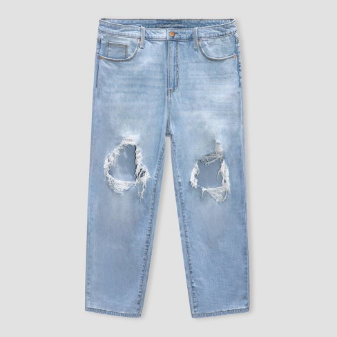 Women's High-Rise Vintage Straight Cropped Jeans - Universal Thread™ - image 1 of 2