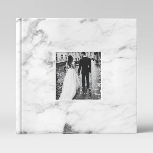 """4"""" x 6"""" Marble Photo Album with Frame Front White 2 Per Page - Threshold™ - image 1 of 3"""