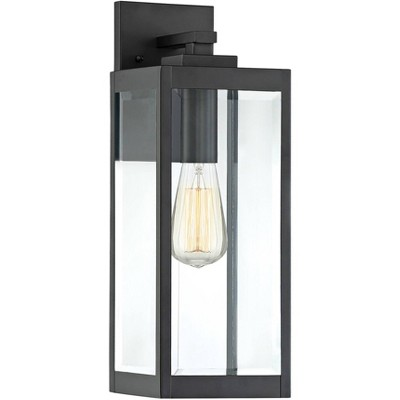 """Quoizel Westover 17"""" High Earth Black Outdoor Wall Light"""