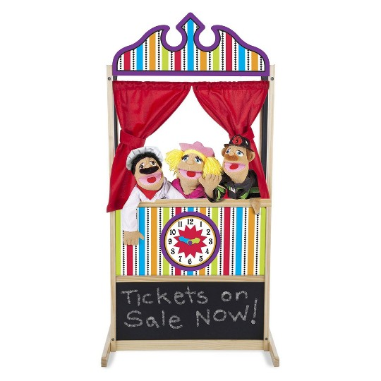 Melissa & Doug Deluxe Puppet Theater - Sturdy Wooden Construction image number null