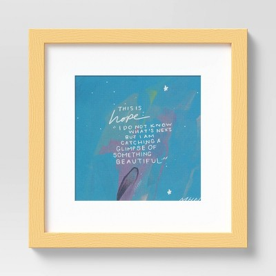 "10"" x 10"" Quote by Morgan Harper Nichols Framed Wall Art Canvas Blue"
