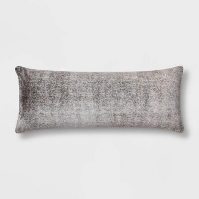 Heather Faux Fur Body Pillow Gray - Threshold™