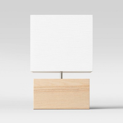 Wood Block Table Lamp Brown (Includes LED Light Bulb) - Project 62™