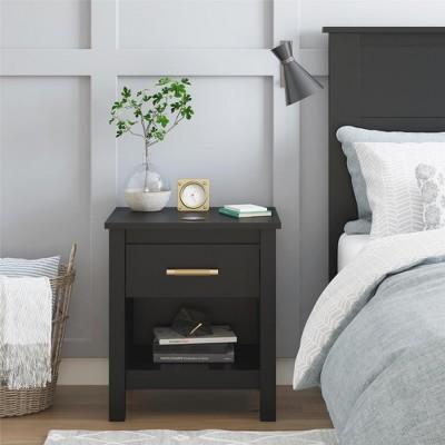 Springwood Nightstand Black - Room & Joy