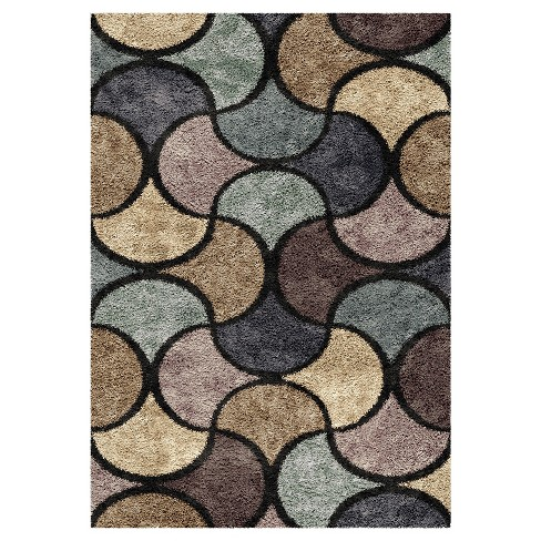 """Blue Solid Woven Area Rug - (6'7""""X9'8"""") - Orian - image 1 of 4"""