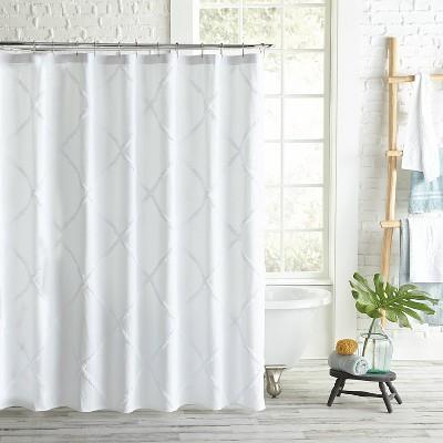 Chenille Lattice Shower Curtain - Destinations