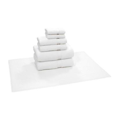 7pk Circle Design Turkish Towel Set White - Linum Home Textiles