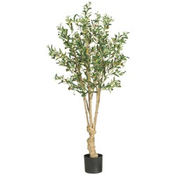 5ft Artificial Olive Tree in Pot - Nearly Natural