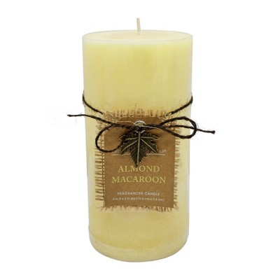 6  x 3  Mottled Pillar Candle Almond Macaroon - Chesapeake Bay Candle