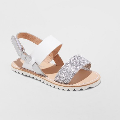 Toddler Girls' Kenleigh Two Piece Slide Sandals - Cat & Jack™ White 6