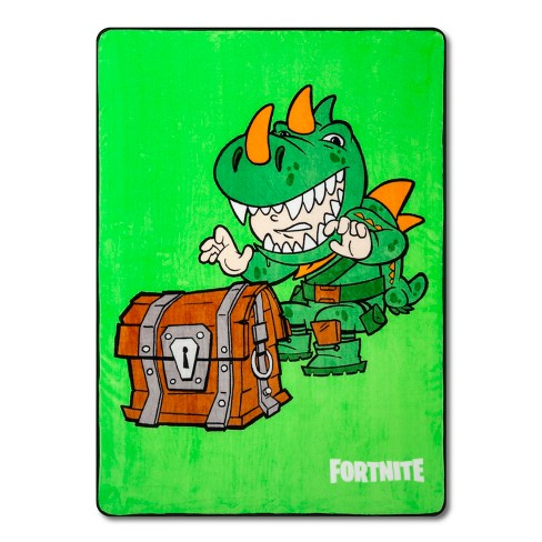 Fortnite Rex Twin Bed Blanket Green - image 1 of 4