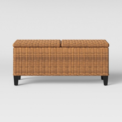 Peachy Fullerton Steel Wicker Patio Folding Storage Coffee Table Brown Project 62 Download Free Architecture Designs Aeocymadebymaigaardcom