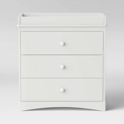 Delta Children Skylar 3-Drawer Dresser with Changing Top - Bianca White