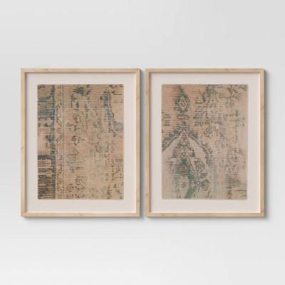 "(Set of 2) 24"" x 30"" Textured Fabric Framed Wall Art - Threshold™"