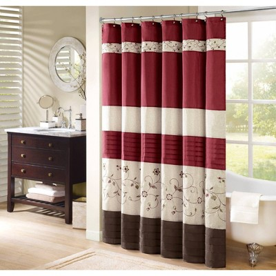 Monroe Embroidered Floral Shower Curtain