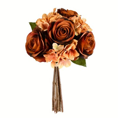 Vickerman Artificial Rose and Hydrangea Bouquet