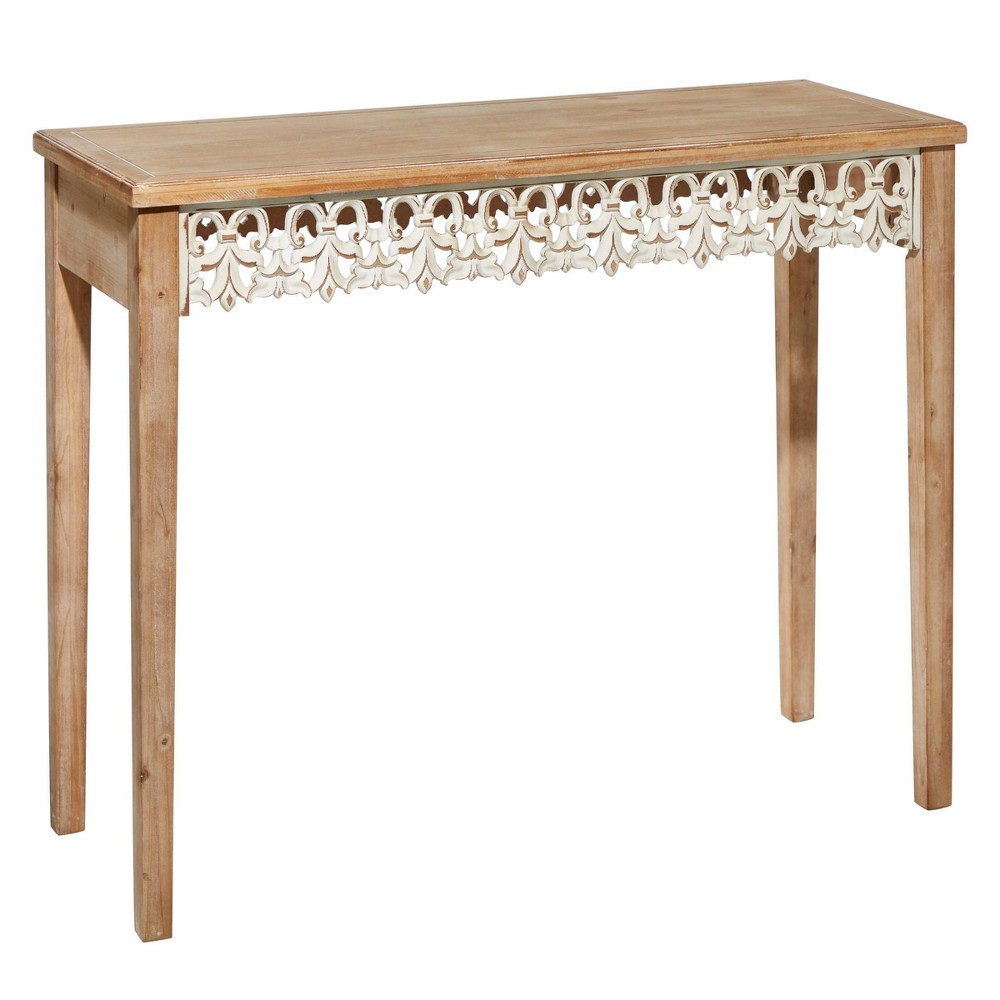 Large Farmhouse Wood Console Table Brown Olivia 38 May
