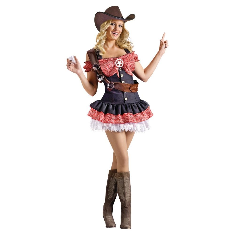 Women's Shotgun Sherriff Costume, Red