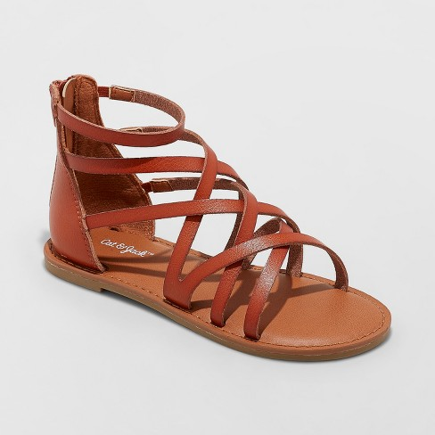 d56cae9a43a3 Girls  Lilith Gladiator Sandals - Cat   Jack™ Brown 4   Target