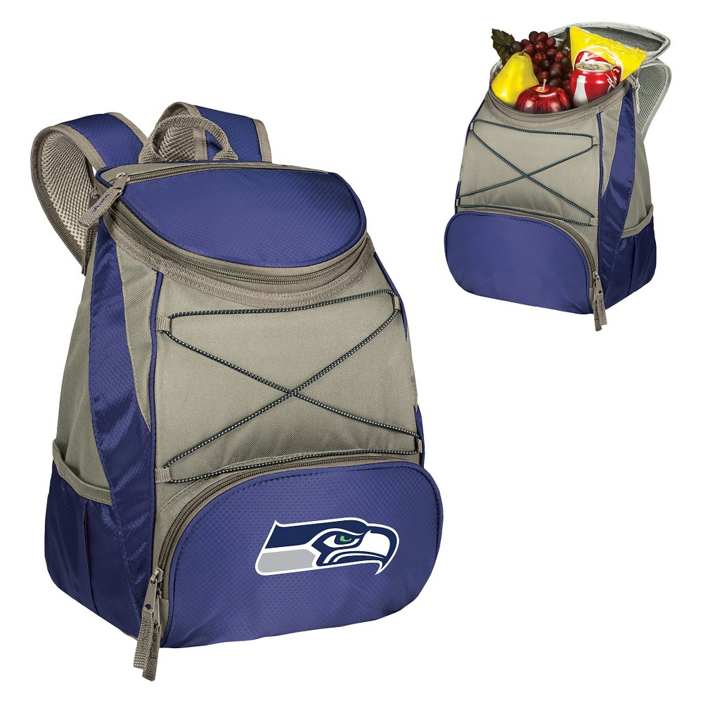 Seattle Seahawks Ptx Backpack Cooler by Picnic Time - Navy