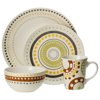 Rachael Ray Polka Dots 16pc Dinnerware Set