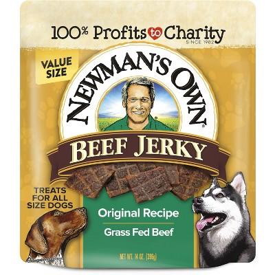 Newman's Own Beef Jerky Soft Dog Treats - 14oz