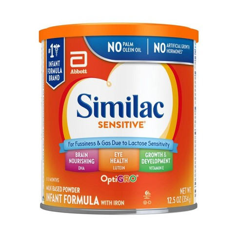 Similac Sensitive For Fussiness and Gas Infant Formula with Iron Powder - (Select Size) - image 1 of 4