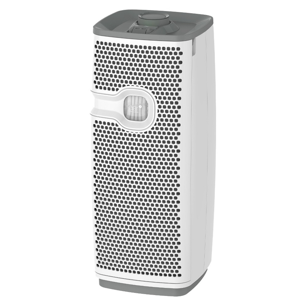 Holmes Mini Tower Air Purifier with Maximum Dust Removal Filter For Small Rooms (HAP9413W) - White