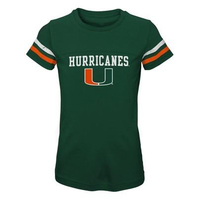 NCAA Miami Hurricanes Girls' Short Sleeve Scoop Neck T-Shirt