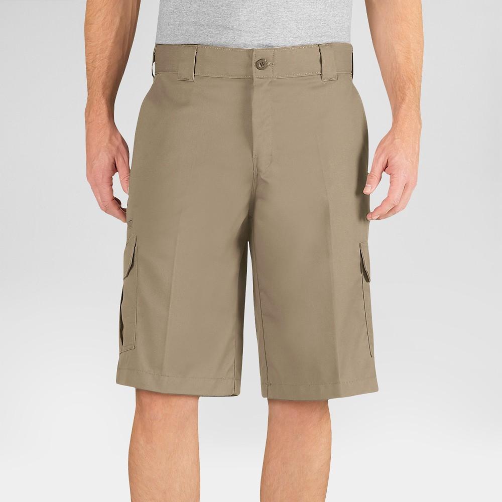Dickies Men's Relaxed Fit Flex Twill 13 Cargo Shorts- Desert Sand 42