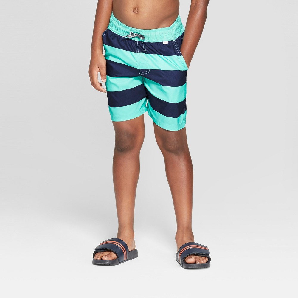 Boys' Rugby Volley Swim Trunks - Cat & Jack Blue L