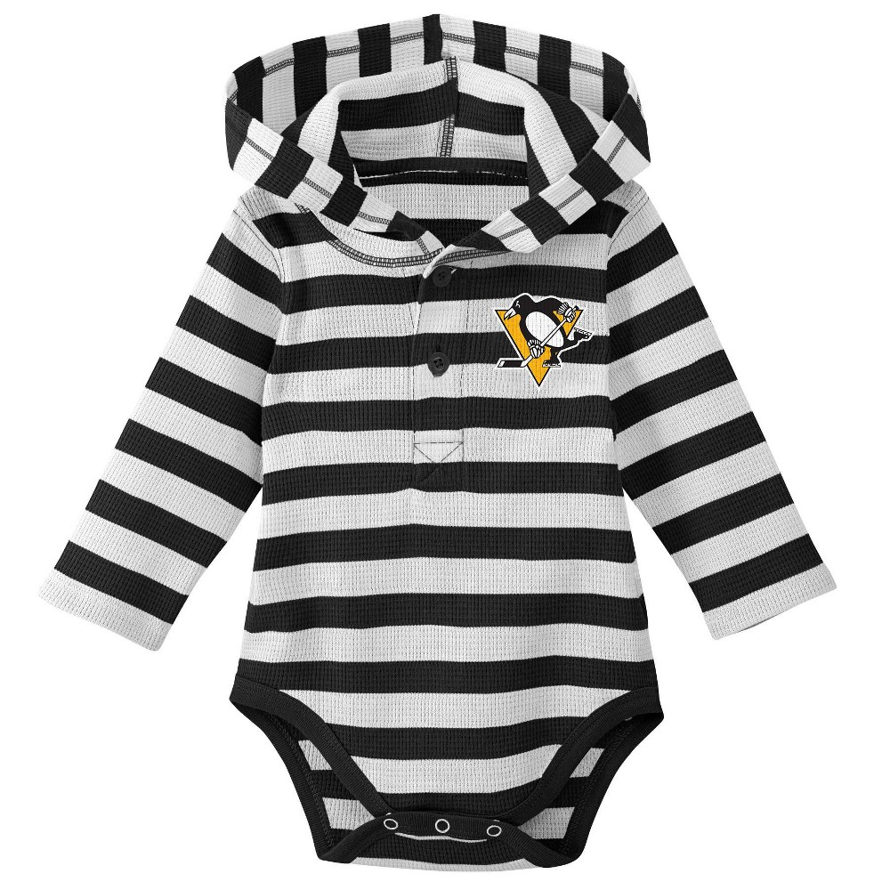 Pittsburgh Penguins Boys' Newborn/Infant Sleeper Bodysuit - 12M, Multicolored
