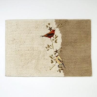Avanti Gilded Birds Rug - Ivory Beige