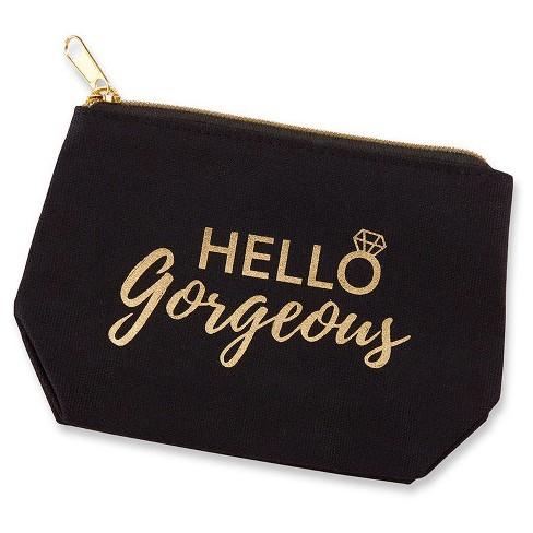 fd4048cbc9 6ct Kate Aspen Hello Gorgeous Canvas Makeup Bag   Target