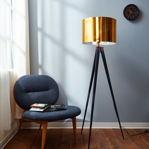 Versanora - Romanza Tripod Floor Lamp with Gold Shade (Lamp Only) - image 1 of 3
