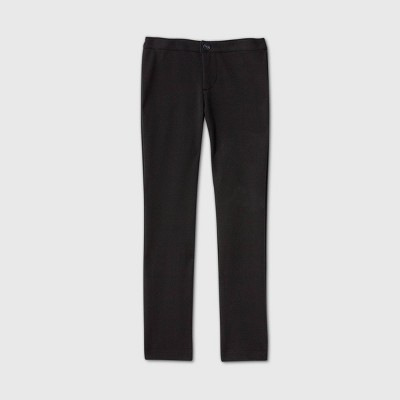 Girls' Stretch Uniform Ponte Pants - Cat & Jack™ Black
